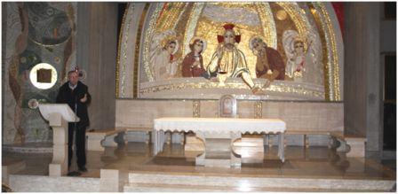 Finalmente il mosaico tanto atteso a San Tommaso D'Aquino
