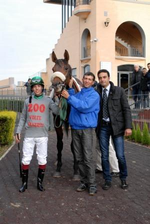 Cristian Dumaro taglia il traguardo delle 200 vittorie all'ippodromo Capannelle