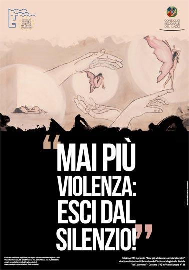 Lazio: i premiati del concorso 'Mai più violenza. Esci dal silenzio'