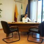 Daniele Torquati nel suo primo giorno da presidente