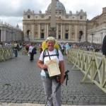 Arrivo in piazza San Pietro il 12 ottobre 2013