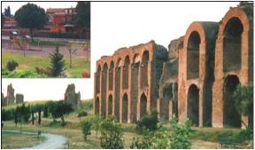Il Parco giochi e le arcate maestose dell'Acquedotto Claudio