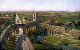 Ricostruzione del Campo Barbarico e della via Latina verso sud