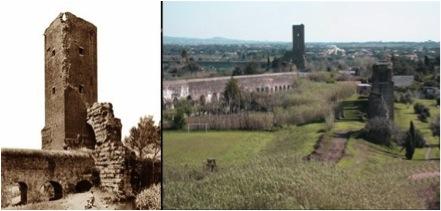 Torre medievale del Fiscale                   Veduta del Parco fra Acquedotto Felice e Acquedotto Claudio