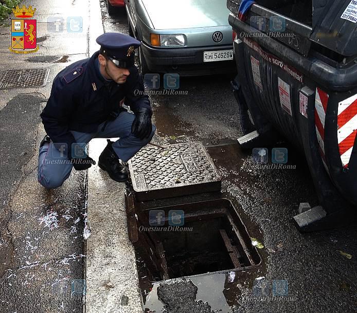 Nascondevano rame rubato in un tombino di via prenestina - Commissariato porta maggiore ...