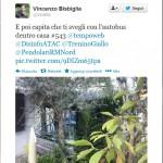 Il Tweet di Vincenzo Bisbiglia sul 543 dentro casa