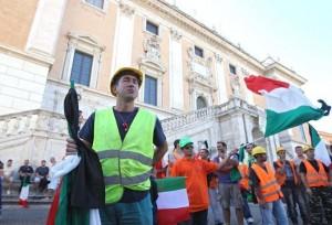 Roma protesta lavoratori cantieri metro c