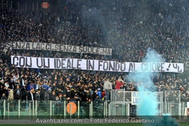 Striscione tifosi Lazio
