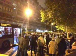 Manifestazione Tor Sapienza guerriglia