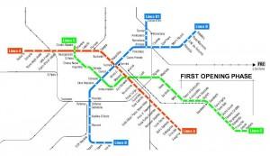 La nuova mappa metro di Roma (dal sito metroautomation.org)