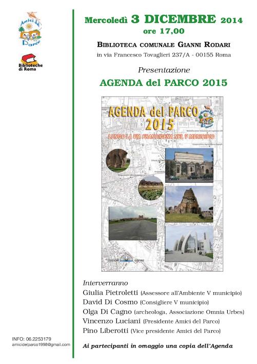 agenda del parco 2015