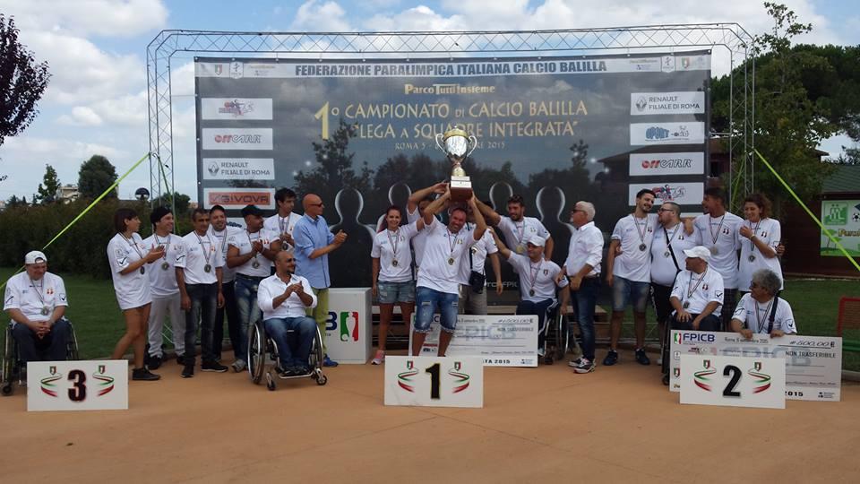 Campionato Calcio Balilla Lega Squadre ParcoTuttiInsieme Podio