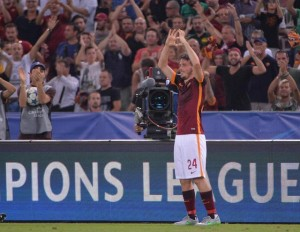 Soccer: Champions League; Roma-Barcelona