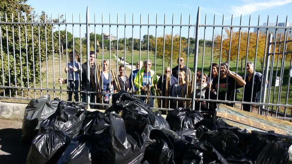Parco Bonafede pulizia amici del parco