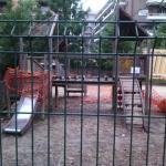 area ludica chiusa a Villa Lazzaroni