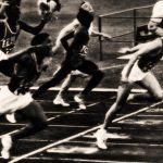 Livio Berruti vittorioso alle olimpiadi 1960