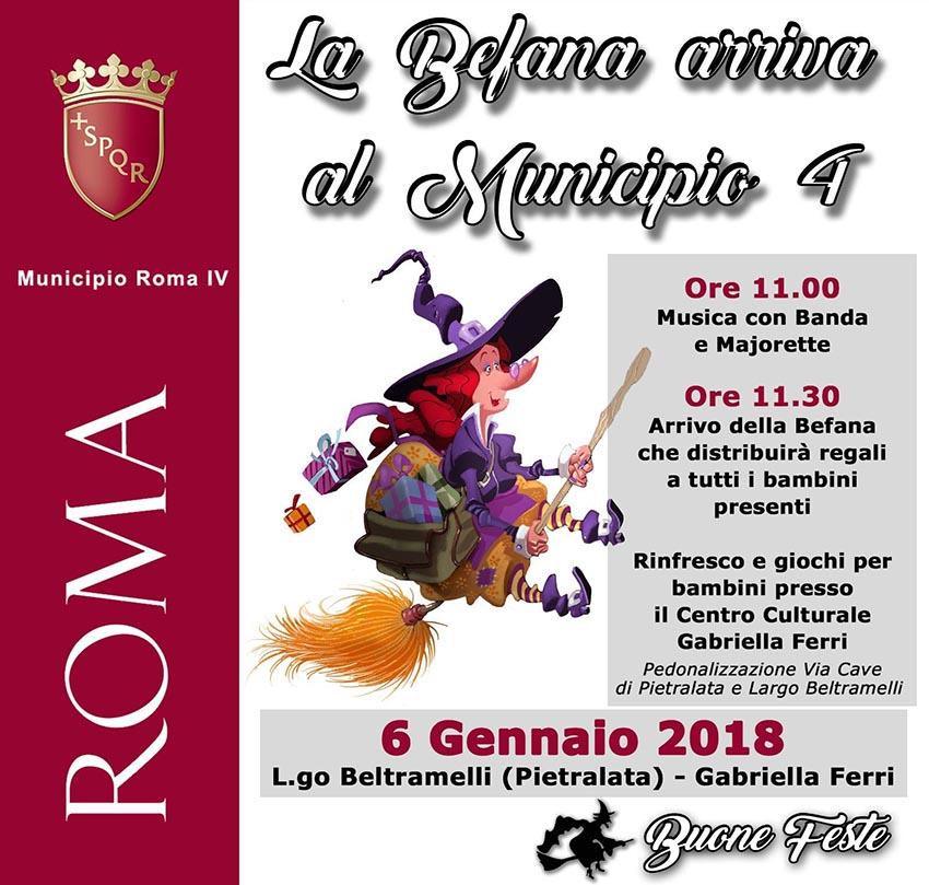 Municipio Roma 4 La Befana 2018 Arriva In Largo Beltramelli