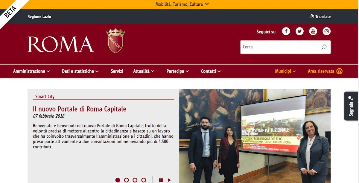 online il nuovo portale istituzionale di roma capitale