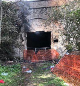 Incendio Parco Centocelle 20-10-2019