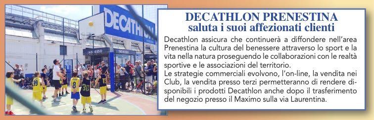 Decathlon Prenestina saluta