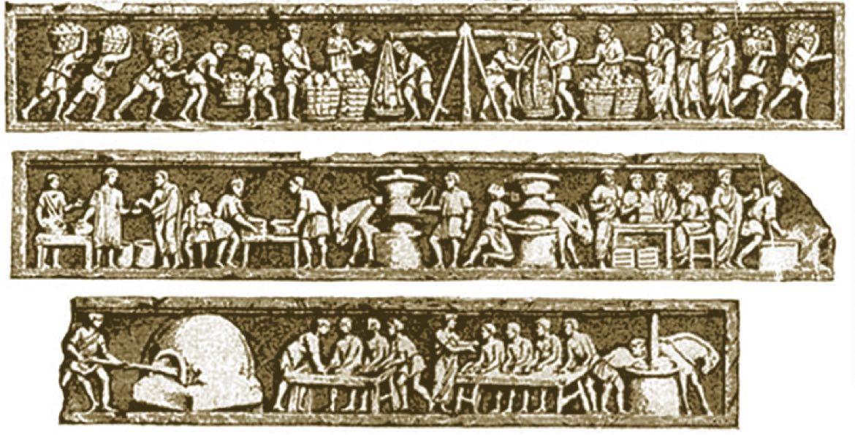 Sepolcro di Eurisace, decori