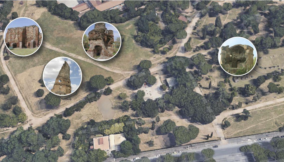 Parco Villa dei Gordiani: i monumenti