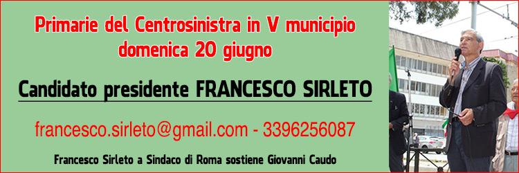 Francesco Sirleto primarie V municipio